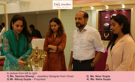 """TNS Jewellers inaugurated its New showroom on MG Road, Panjim on 21st October 2017"""